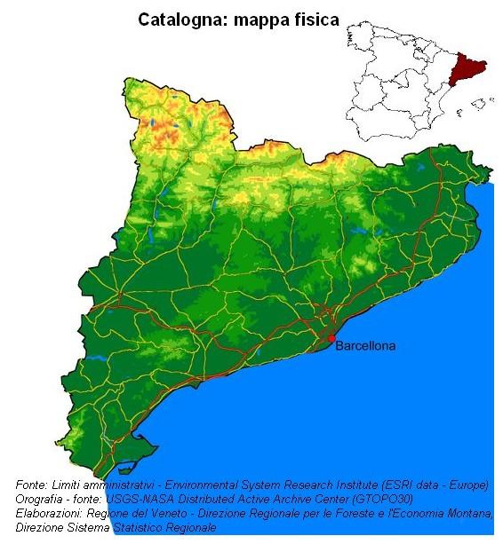 Cartina Catalogna.Immagine E Download Dati Rapporto Statistico 2006