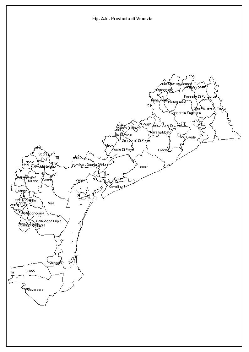 Cartina Di Venezia E Provincia.Mappa Di Venezia
